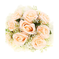 Almond Royal Rose Polyester Wedding Bridal Bouquet