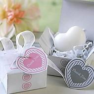 cadeaux de Noël mini-forme de savon en forme de coeur (couleur aléatoire)