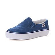 Boy's / Girl's Loafers & Slip-Ons Spring / Summer / Fall Comfort / Closed Toe Canvas Flat Heel Blue / Red / Gray