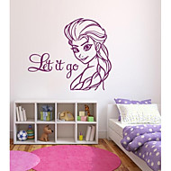 jiubai® frosne væg sticker wallstickers, lad det gå