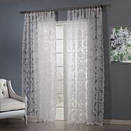 zwei Panele Rustikal Blumen / Pflanzen Weiß Schlafzimmer Polyester Gardinen Shades