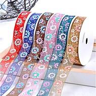 Impression de ruban coloré chrysanthème de fil de neige 3/8 pouces ribbon- 25 mètres par rouleau (plus de couleurs)