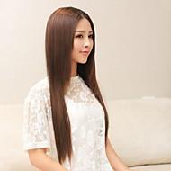 reta sintética longa e grampo em extensões do cabelo com cinco clipes