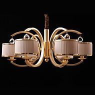 6 světla moderní křišťálový lustr
