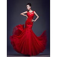 Formal Evening Dress Trumpet/Mermaid Scoop Floor-length Chiffon / Lace