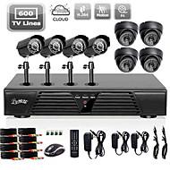 Sistema de Cámaras Liview® Full 960H de 8 Canales DVR con Cámaras de Exterior/Interior 600 TVLine