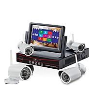 Sinocam® 4CH WIFI IP Bullet Camera & 4CH  NVR HD Monitor Combo Kits