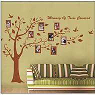 árbol colorido zooyoo®rremovable y foto etiqueta de la pared marco de la decoración del hogar del arte calcomanía decoración pegatinas de