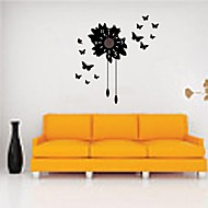 ZOOYOO® many butterflies Electronic battery timekeeper wall clock wall sticker home decor for you living room