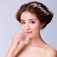 Epingle à Cheveux/Fleurs Casque Mariage/Occasion spéciale Alliage/Zircon Femme Mariage/Occasion spéciale