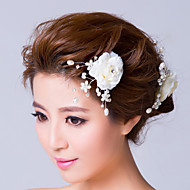 Women's Imitation Pearl / Fabric Headpiece-Wedding / Special Occasion Flowers / Hair Pin