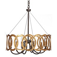 MAX:60W Chandelier ,  Traditional/Classic Gold Feature for Candle Style Metal Bedroom / Dining Room / Study Room/Office / Hallway