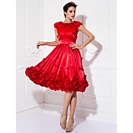 TS Couture Cocktail Party / Prom Dress - Ruby Plus Sizes / Petite A-line Jewel Knee-length Stretch Satin