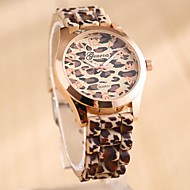Coway Fashion Leopard Women's Round  Golden Dial  Silicone Band Quartz Analog Waterproof  Wrist Watch(Assorted Color) Cool Watches Unique Watches