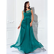 Formal Evening/Prom/Military Ball Dress - Jade Plus Sizes Sheath/Column Scoop Floor-length Chiffon/Tulle