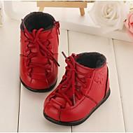 Sort / Rød - Baby Sko - Hverdag - Læder - Støvler