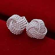 Braided Net 925 Sliver Earrings (1Pair)