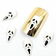 50шт 3d ложным ногтей проектирует Хэллоуин ногтей проектирует череп для акриловых ногтя ложных ногтей искусство украшения