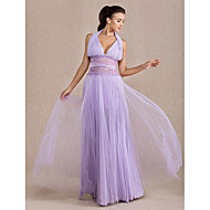 Formal Evening / Prom / Military Ball Dress - Lavender Plus Sizes / Petite A-line Halter Floor-length Chiffon / Tulle