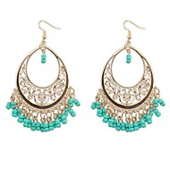 European Style Bohemian Trend Hollow Beads Tassel Earrings(More Colors)