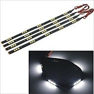 Carking™ 5050-15SMD-30CM Waterproof Car Decorative Lamp Strip-Black (4pcs)
