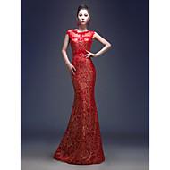 Formal Evening Dress - Ruby Plus Sizes Trumpet/Mermaid Jewel Floor-length Lace