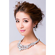 Women's Silver/Alloy Jewelry Set Rhinestone