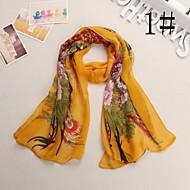 Women Chiffon Scarf , Vintage/Cute/Party/Work/Casual