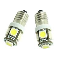 車のドアランプ用E10が1ワット5x5050smd 70-90lm 6500-7500k温白色光(dc12-16v)