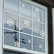 "Merry Christmas Lovely Snowflake Window Sticker (14.16""W × 9""L)"