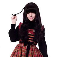 Zipper Vivid Girl Black 33.59cm Bunches Wig Sweet Lolita Wig