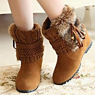 Women's Shoes Fashion Boots Round Toe Wedge Heel Mid-Calf Boots More colors available