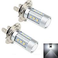 2pcs H7 15w 15x Samsung 2323 SMD 1000lm 6000K weißes Licht führte für Autolenksignallicht (DC 12-24 V)
