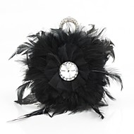 Feather Wedding / Special Occasion Clutches / Evening Handbags with Rhinestones (More Colors)