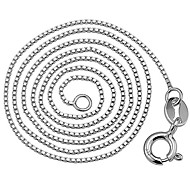 Women's Silver Fashion Box ChainNecklace  Chain