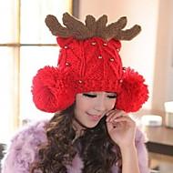 Women Wool Beanie/Slouchy , Cute/Casual Winter