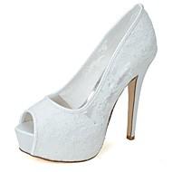 בלרינה\עקבים - נשים - נעלי חתונה - עקבים / נעלים עם פתח קדמי - חתונה / מסיבה וערב - שחור / ורוד / שנהב / לבן