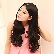 fsahion naturel résistant à haute température longs cheveux ondulés et le clip en extension de cheveux avec 5 clips
