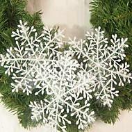 15stk jul dekorasjon hvite snøfnugg ornamenter 22cm
