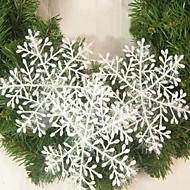 15Stk. Juledekoration Hvid Snefnug Smykker 22Cm