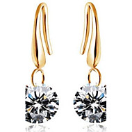 Hoop Earrings Women's Alloy Earring Cubic Zirconia
