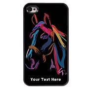 Personalized Phone Case - Watercolor Horse Design Metal Case for iPhone 4/4S