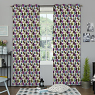 One Panel Curtain Designer , Polka Dots Living Room Polyester Material Curtains Drapes Home Decoration For Window