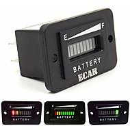 10 Segment LED Display 48V Battery Indicator Meter Gauge for Golf Cart,Yacht,RV,Motorcycle,Forklift Etc.