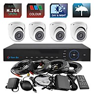 YanSe® 4CH 960H CCTV DVR Kit IR Color Waterproof Dome Camera Security Cameras System 1000TVL 711CF04