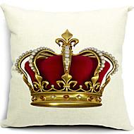 coton couronne / linge taie d'oreiller décoratif