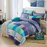melhor casa duvet cover capa de edredão set conforto 4 peças terno padrão geométrico simples e moderno sarja de algodão 100 completo