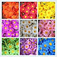 50pcs 4cm 10colors seda artificial flor del sol de cabeza margarita fiesta de bodas en casa favorece centros de mesa decoraciones