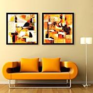 Fantazie Kanvas v rámu / Set v rámu Wall Art,PVC Černá Bez pasparty s rámem Wall Art