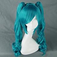 Cosplay Wigs Vocaloid Hatsune Miku Blue Medium Anime/ Video Games Cosplay Wigs 75 CM Heat Resistant Fiber Female